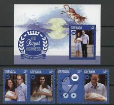Royal Baby, George, Kate, William - Grenada - ** MNH 2013