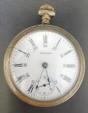 Antique 1908 American Waltham Sterling Grade 18S 15J OF GF Pocket Watch