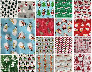 Christmas Fabric Polycotton Half Metres