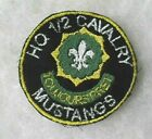 """HQ 1/2 CAVALRY"""" """"MUSTANGS""""  PATCH EMB ON TWILL        BILL WISE'S COLLECTION"""
