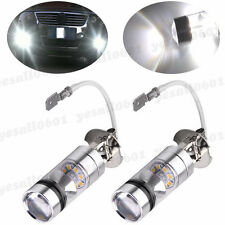 2x 6000K White LED H3 High Power 100W 2323 Fog Driving DRL Light Lamp Bulbs