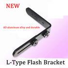 1X Generic Metal L-Shape Flash Bracket Flashlight Camera Holder Mount Flip DSLR