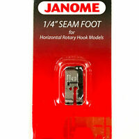"Janome 1/4"" Seam Foot Horizontal Rotary Hook Models New and Free Shipping"