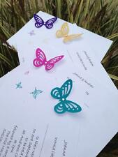 10 x A6 Butterfly Personalised Wedding/Evening Invitations including Envelopes