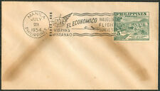 1954 Philippines EL ECONOMICO INAUGURAL FLIGHT First Day Cover