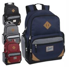 """Lot of 24 Wholesale Trailmaker 19"""" Duo Compartment Backpack with Laptop Sleeve!"""