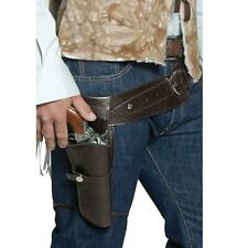 Adult's Gunman Pistol Belt Holster Cowboy Outlaw Sheriff Accessory men's Western