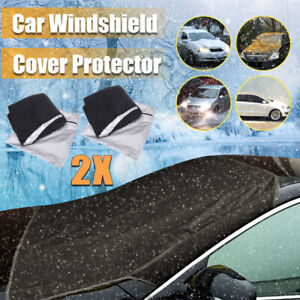2X Car Magnetic Windshield Windscreen Cover Sun Rain Snow Ice Frost Protector US