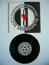"Love And Rockets Yin & Yang (The Flowerpot Man) 7"" Vinyl UK 1986 Single Bauhaus"