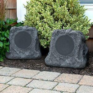 it.innovative technology Outdoor Rock Speaker Pair Wireless Bluetooth Speakers