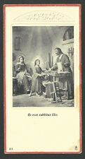estampa antigua de la Sagrada Familia andachtsbild santio holy card santini