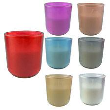 7er Set Kerzen gemischt im Glas Teelichthalter Votivkerzen Deko Windlicht Deko