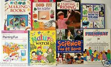 LOT 8 HOW TO... books for Grade 2 3 4 & Up DRAWING Painting ROCK COLLECTING etc.