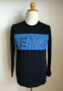 Armani Mens Long Sleeve Sweatshirt Shirt Size S/M