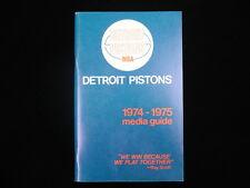 1974-75 Detroit Pistons Media Guide