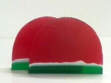TWO SLICES BRITISH HAND MADE WATERMELON SOAP >ACE VALUE>SENSUOUS LUXURY<