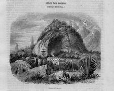 Stampa antica SERRA dos ORGAOS Brasile Brazil 1854 Old Print