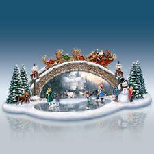 Light Up The Season Bridge Thomas Kinkade Christmas Figurine Bradford Exchange