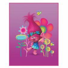 Kinder Fleece decke Trolls Poppy Trolle Kuscheldecke 110x140 Cm