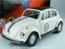 VOLKSWAGEN HERBIE BEETLE MODEL CAR 1/43RD SCALE WHITE COLOUR EXAMPLE T3412Z(=)