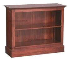 Timber Bookcase Low, Solid Timber, Mahogany, Medium Brown
