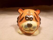 New ~ Ceramic Tiger Face Shape Bank