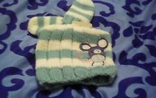 BNWT BABY GIRLS NEXT WINTER embroidered mouse beanie hat and mitts 12-24 months