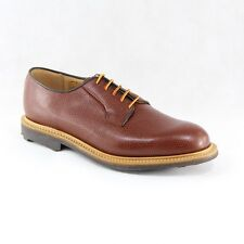 MARK MCNAIRY MADE IN ENGLAND TAN GRAIN WHOLECUT DERBY SHOE SIZE UK 7.5 US 8.5