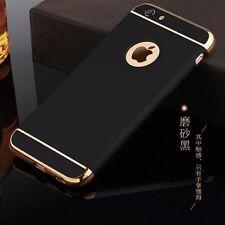 Handy Schutzhülle Bumper Backcover iPaky Case schwarz gold Apple iPhone 6 7 Plus