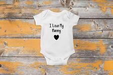 I Love My Nanny Baby Vest Bodysuit Cute funny Gift BabyGrow Clothing