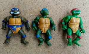 Lot 3 Figurines Tortue Ninja  TMNT Teenage Mutant Ninja Turtles Playmates