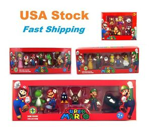 Super Mario Mini Figures Collection Sets, Multiple Styles, Karts, Cake Toppers