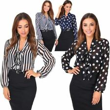 Long Sleeve Blouses for Women with Pleated
