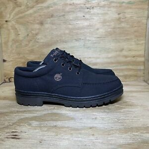 Timberland Canvas Oxford Lace Up Shoes Ankle Boots, Men's size 13M, Black
