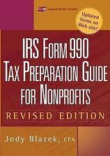 IRS Form 990: Tax Preparation Guide for Nonprofits, Blazek, Jody, Good Condition