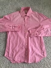 Scotch and Soda Mens Pink Long Sleeve Button Up size S