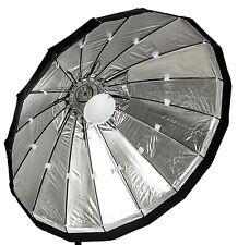 120cm pliable beauté plat, argent, lencarta/bowens raccord
