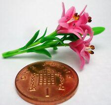 1:12th Rosa Rosa de Agua Flores Casa de Muñecas en Miniatura Accesorio De Jardín De Flores
