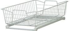 Pull-Out Wire Basket Kitchen Cabinet Organizer Rack Sliding Shelf Drawer White