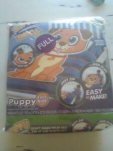 "Zippy Sack Happy Puppy Full 75"" x 54"" x 12"" AS SEEN ON TV Super Soft Fleece"