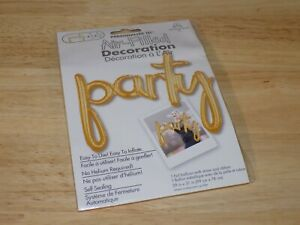 Personalize It Air Filled Decoration 39x31 Gold Foil Balloon PARTY Anagram 36698