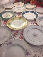 20 - Vintage Mismatched China Dessert Side Plates Wedding Mad Hatter Shabby #36