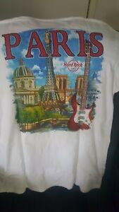 Hard Rock Cafe City Tee Paris V16 Mens Large Size