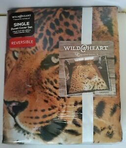 Wild At Heart Single Duvet And Pillow Cover Leopard