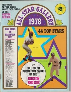 All Star Gallery1978 Magazine Boston Red Sox 27 card sheet Yaz Rice Ted Williams