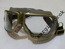 RUSSIAN AVIATOR ORIGINAL motorcycle rare protective glasses metal  goggles new
