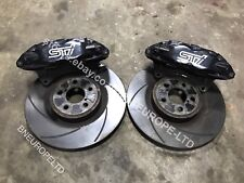 SUBARU IMPREZA FRONT 4 POT BREMBO BRAKE CALIPERS DISCS WRX STI TURBO GC8 GDB GRB