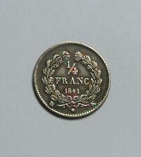 RARE EN SUP 1/4  FRANC LOUIS PHILIPPE 1841 K