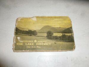 THE LAKE DISTRICT MAP - Ordnance Survey Map - 1948