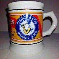 VINTAGE 1985 ARM & HAMMER COFFEE MUG PORCELAIN CORNER STORE COLLECTION
